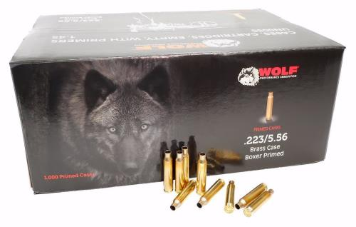 Wolf .223 Cal./5.56mm New Primed Brass