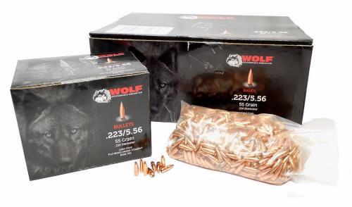 WOLF .223 Cal./5.56mm (.224) 55gr FMJBT