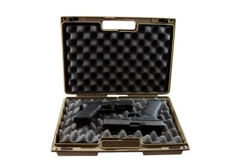 Tan Double Pistol Case